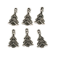 Christmas Tree Tibetan Silver Bead charms Pendants fit bracelet 10pcs 23*14mm