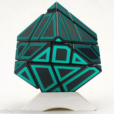 Ninja Ghost Irregular Magic Cube Skewb Twist Puzzle Intelligence Toy Black Green