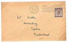 TT205 1929 GB London Taplow Maidenhead MMO Perfin Scarce on PUC Issue Cover PTS