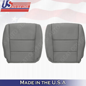 DRIVER PASSENGER Bottom Leather Seat Cover Gray 2008 to 2012 FOR HONDA ACCORD