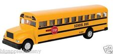 LARGE Yellow School Bus Diecast Model pullback action openable doors 8.5 INCH
