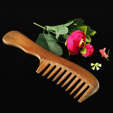BEAUTY WOODEN NATURAL SANDALWOOD HANDMADE WIDE TOOTH COMB MASSAGE COMB HAIR CARE