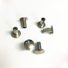 M3.5 stainless steel flat round head rivets truss mushroom semi hollow rive