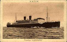 Schiffe ~1920/30 Dampfer Steamer Paquebot CAMPANA Marseille Amérique Line CPA