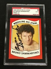 BRUNO SAMMARTINO 1982 WRESTLING ALL STARS SIGNED AUTOGRAPHED CARD SGC AUTHENTIC