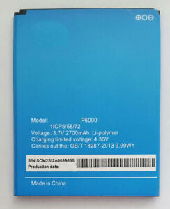 Bateria para Elephone P6000 / P6000 PRO   NUEVA   Capacidad  2700mAh
