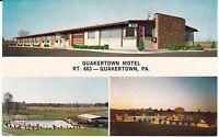"""Quakertown PA  """"The Quakertown Motel""""  Postcard  Pennsylvania * FREE US SHIPPING"""