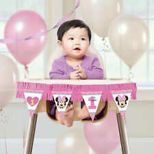 Disney Minnie Mouse Happy 1st Birthday Party High Chair Decorating Kit