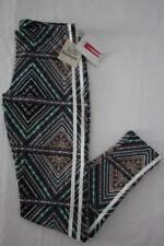 NEW Womens Leggings Size Medium Soft Stretch Pants Ladies Casual Diamond Print
