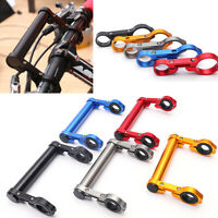 Bike MTB Bicycle Aluminium Double Handlebar Extension Mount Cycling Front Holder