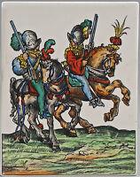 99840386 Porzellan Bildpaltte Ritter handausgemalt