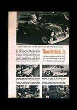 Powercar Thunderbird Sidewalk Car 1955 pictorial Ad