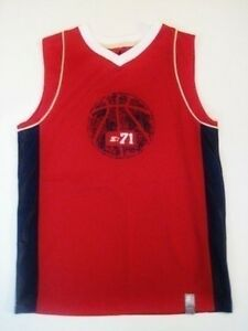 Boy's STARTER size 10-12 Red basketball jersey