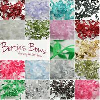 Bertie's Bows Satin Leaf Trim Ribbon - 18 Colours - 3 FOR 2 - By the Metre