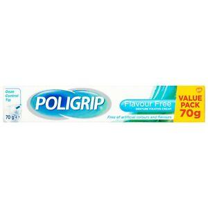 2x Polygrip Denture Fixative Cream - Flavour Free