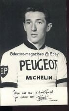 ROGER PINGEON cycling cyclisme Peugeot Print sign 1960s
