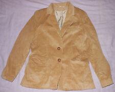 Vintage Classic Fashions Mens Tan Corduroy Sports Coat Suit Jacket Size 6 Short