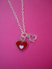 FUNKY SILVER RED HEART 13 NECKLACE KITSCH TEEN COMING OF AGE BIRTHDAY GIRLS GIFT