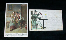 2 Postcard Man Proposing Say Yes Man Top Hat Tail Spats Perfectly Delighted 1904