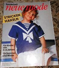 Neue Mode von1984 Stricken & Häkeln für Kinder Bilderpullis Strickheft