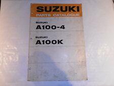SUZUKI A100-4 A100 K GENUINE PARTS CATALOGUE MANUAL
