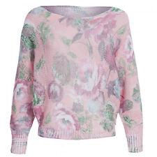 Geblümte Langarm Damen-Pullover & -Strickware aus Baumwolle