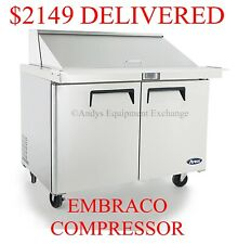 """48"""" 4 Foot wide Refrigerated Restaurant Megatop Sandwich Salad Prep table Nsf"""