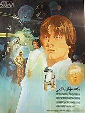 1978 Vintage Star Wars Coke Promo Poster #3 LUKE- UNUSED, Case Fresh- Rolled