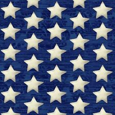 Fabric Flag Stars White on Blue Navy America USA Cotton by the 1/4 yard BIN