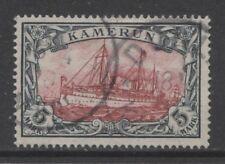 1900 German colonies Cameroun 5 Mark used - DUALA - $ 720.00