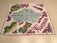 Vintage Ladies Souvenir State Handkerchief Hanky Wisconsin Unused Nice