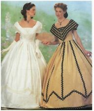 Butterick 6693 Civil War Gown Sewing Pattern 6-10 Southern Belle Costume