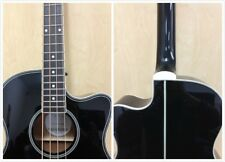 Haze FB-711BCEQ/BK 4-String Electric-Acoustic Bass Guitar - Black