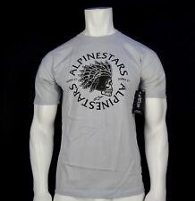 New Alpinestars Classic  Skull Gray Mens Sports Wear S/S T Shirt RALP-116