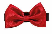 """Rosewood Christmas Xmas Red Bow Tie Dog Collar 16-20"""""""