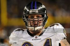 Justin Bannan Baltimore Ravens game used worn jersey Photo Matched