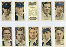 Full Set, Ardath, Cricket, Tennis & Golf Celebrities, Grey 1935 VG (Gx612-450)