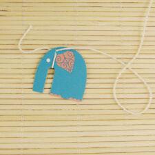 100 pieces paper tags + string, DIY Tea bag tags, elephant design