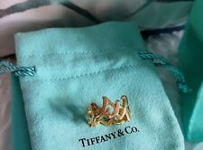 Authentic Tiffany & Co Paloma Picasso 18ct/18k Yellow Gold Hugs & Kisses Ring L