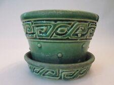 VIOLET FLOWER POT PLANTER! Vintage McCOY pottery! Circa 1950s: BORDER design!