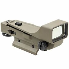 NcSTAR Tan Tactical Aluminum Gen 2 DP Red Dot Reflex Optic Sight Weaver DPTV2