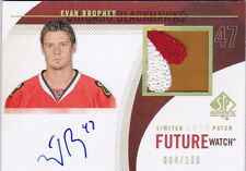 10-11 SP Authentic Evan Brophy /100 Auto Patch Rookie Future Watch Limited 2010