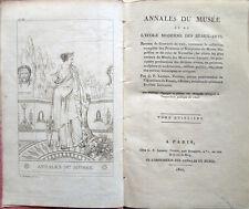 1807 – ANNALES DU MUSÉE ET DE L'ÉCOLE MODERNE DES BEAUX-ARTS – TOME QUINZIÈME