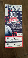 1997 BASEBALL ALL STAR GAME FULL TICKET CLEVELAND INDIANS HOST JACOBS FIELD