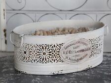 Chic Antique Korb aus Metall Aufbewahrungskorb shabby vintage Deko Brocante