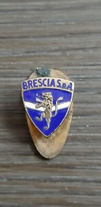 Italian SpA Brescia enamel buttonhole, nice vintage badge, not a pin