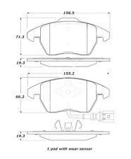 Disc Brake Pad Set-Sedan Front Stoptech 308.11070