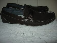 BRUNO HOMME PEPE-3 Mens BROWN Boat Shoes Moccasins Slip On Loafers Sz 10.5 NWOB