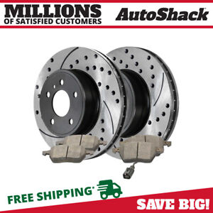Front Performance Drilled Slotted Brake Rotors & Ceramic Pads Kit for VW Beetle