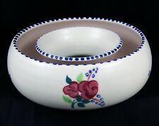 Very Pretty Vintage Poole Pottery Traditional Hand Painted Circular Planter